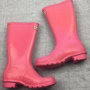 Pink Hunter Rain Boots. Kids Rain Boots, Winter